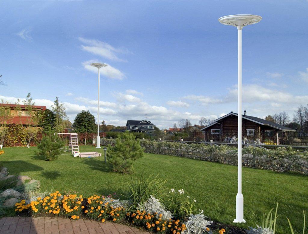 CSL-24 LED Solar Courtyard Light Installed