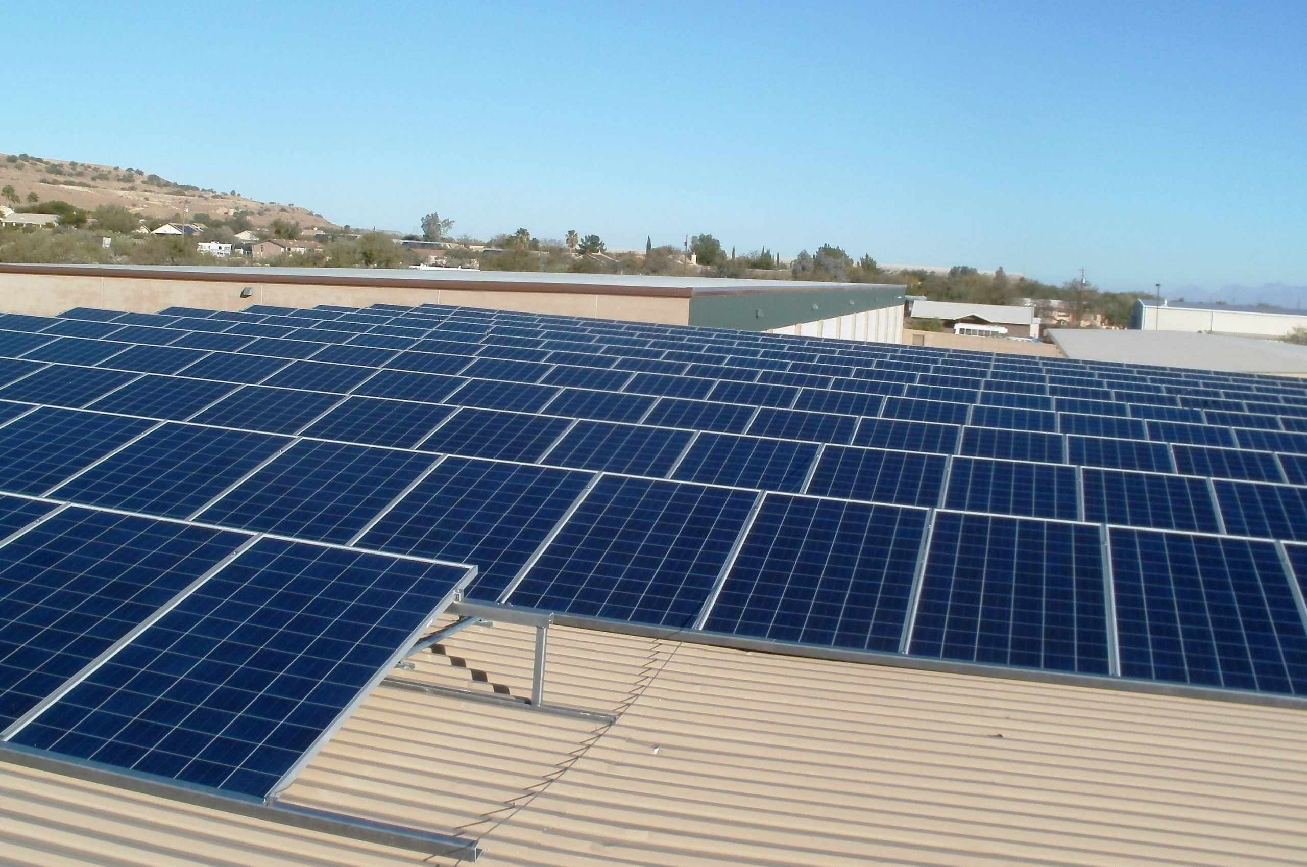 Commercial Solar System Metal Roof Mount
